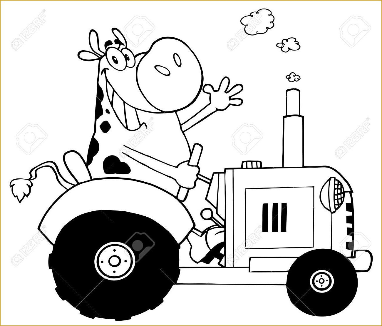 Coloriage Tracteur New Holland Facile Coloriage Tracteur New intérieur Dessin Tracteur Facile