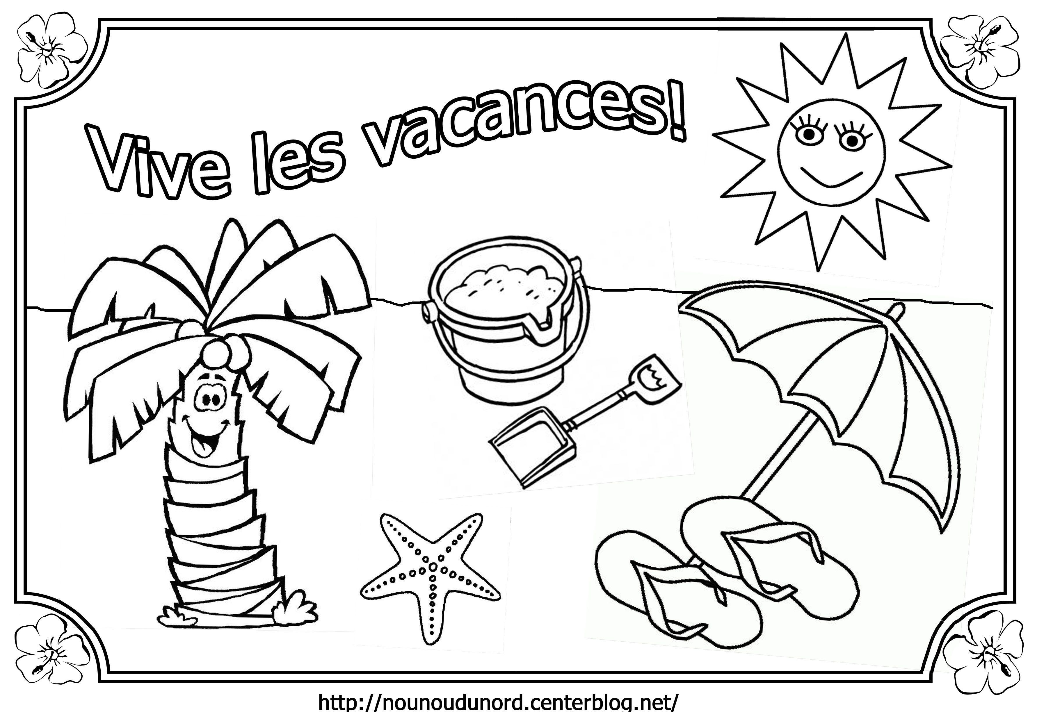 Coloriage Vive Les Vacances concernant Poésie Vive Les Vacances