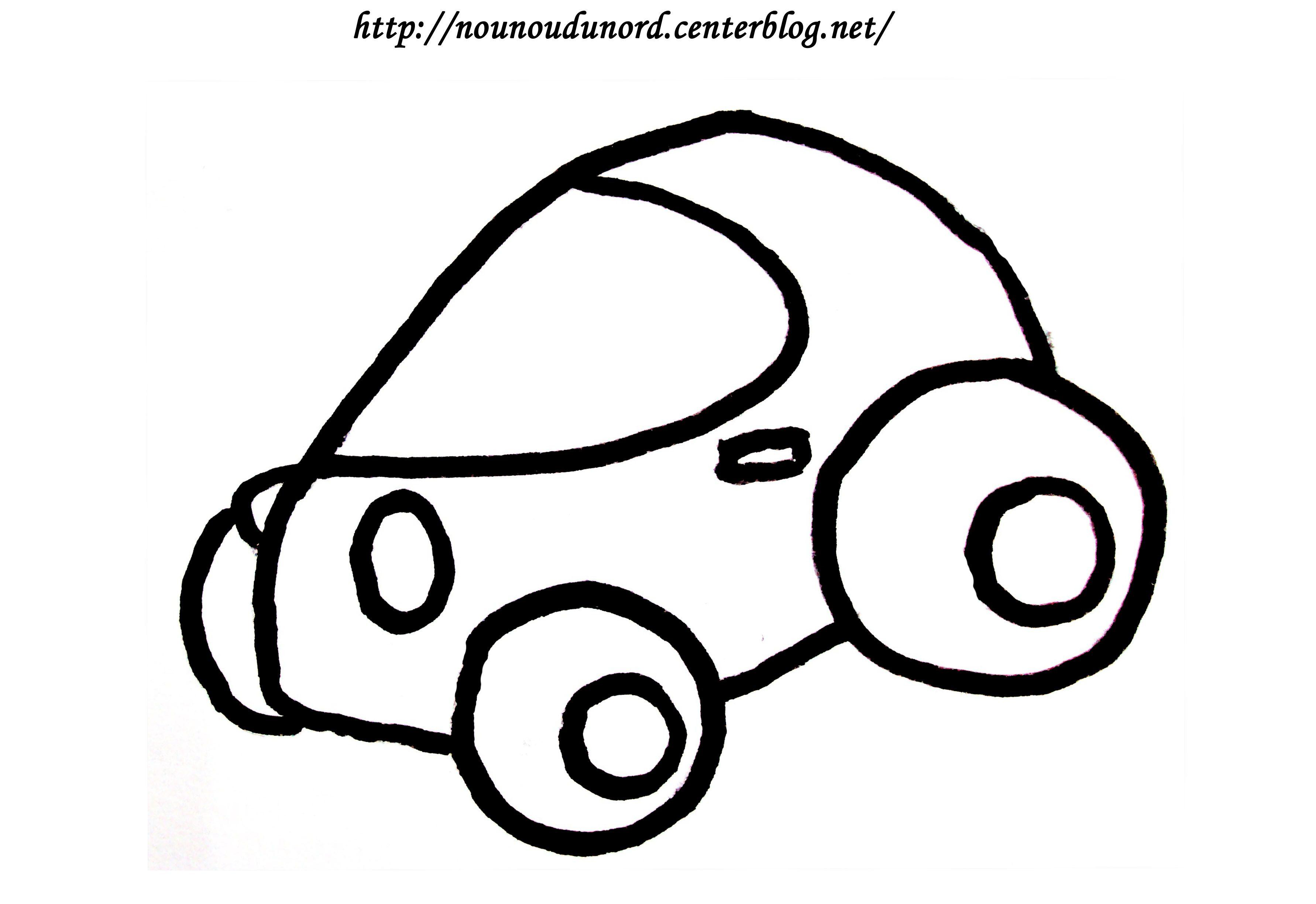 Coloriage Voiture De Course Dessiné Par Nounoudunord. intérieur Coloriage Vehicule