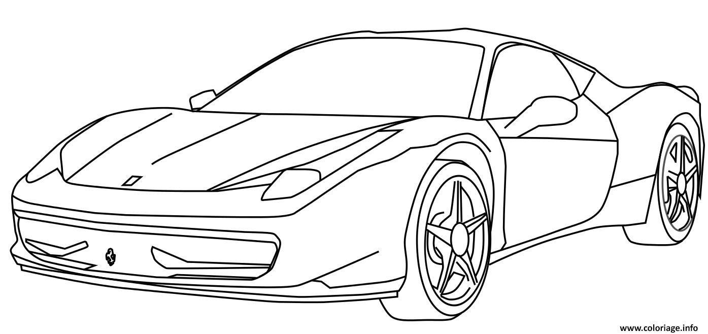 Coloriage Voiture De Course Ferrari Dessin Dessin À Imprimer dedans Coloriage Vehicule