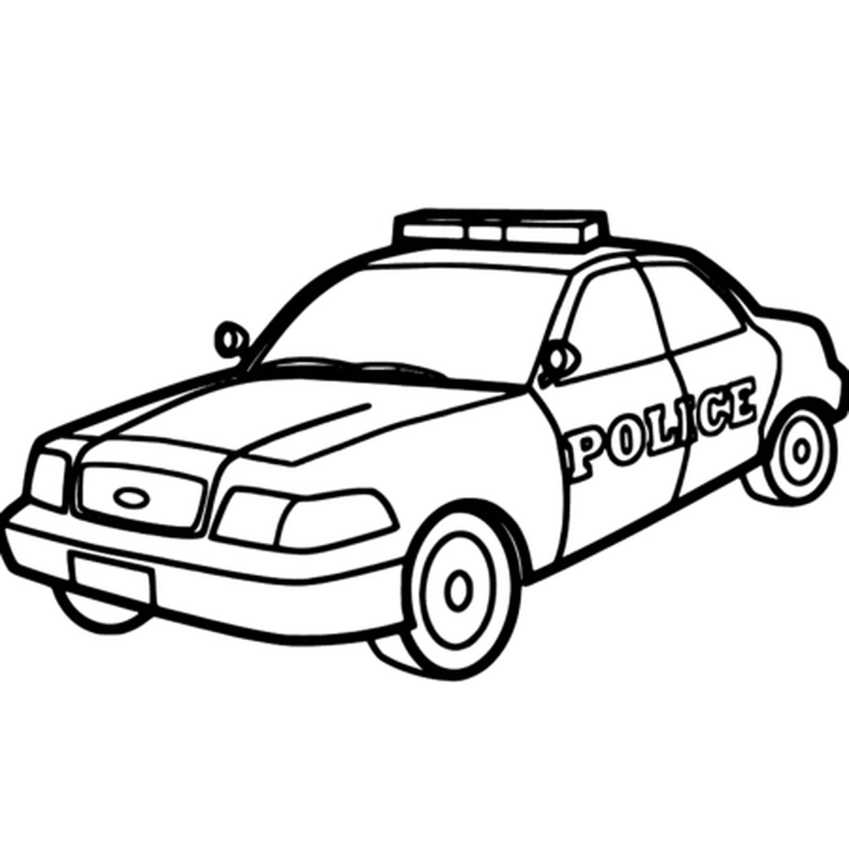 Coloriage Voiture De Police En Ligne Gratuit À Imprimer concernant Coloriage Vehicule