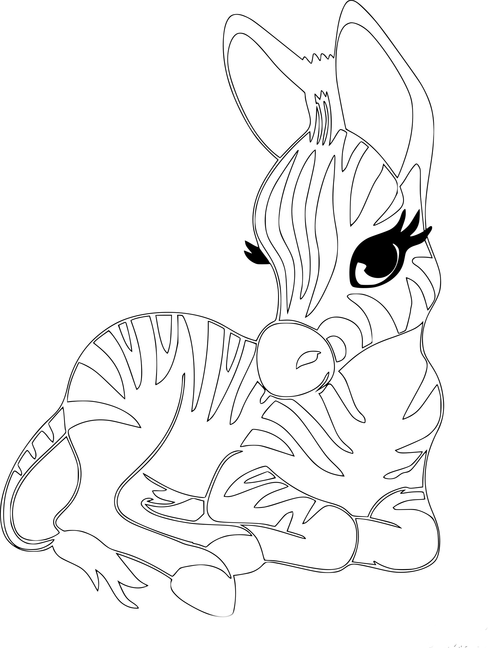 Coloriage Zebre Fille À Imprimer Sur Coloriages destiné Zou Coloriage