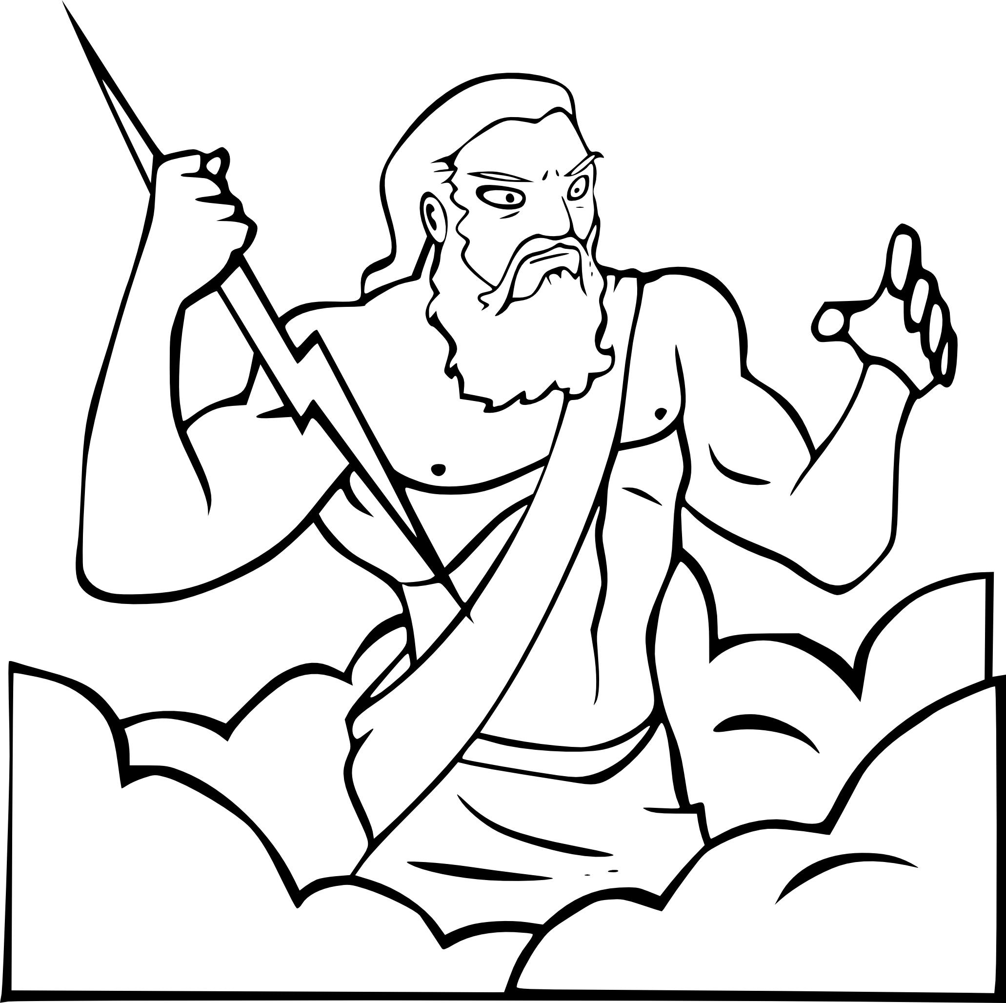 Coloriage Zeus À Imprimer pour Dessin Sur L Histoire