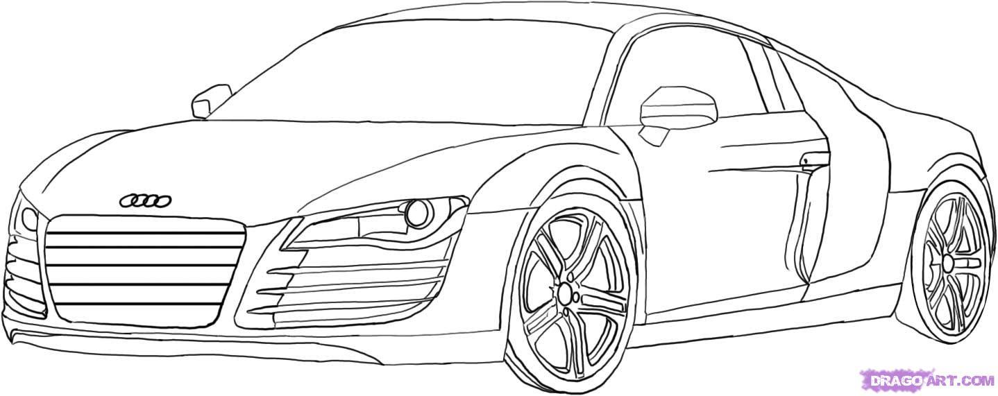 Coloriages À Imprimer : Audi, Numéro : 575829 tout Coloriage Vehicule