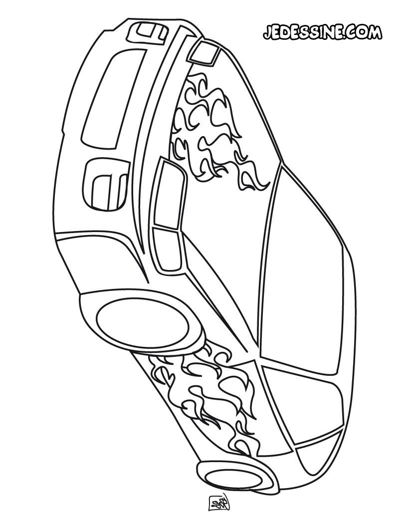 Coloriages Coloriage D'une Voiture Tuning - Fr.hellokids dedans Coloriage Vehicule