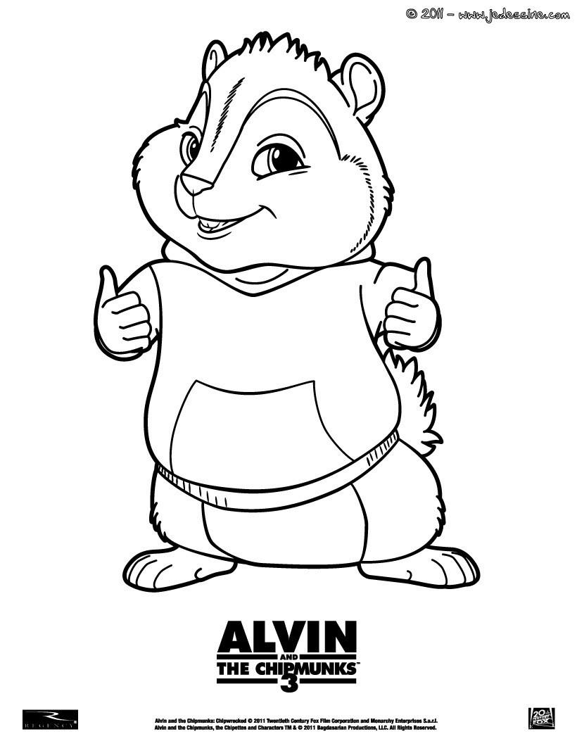 Coloriages Coloriage Theodore - Fr.hellokids pour Dessin De Alvin Et Les Chipmunks
