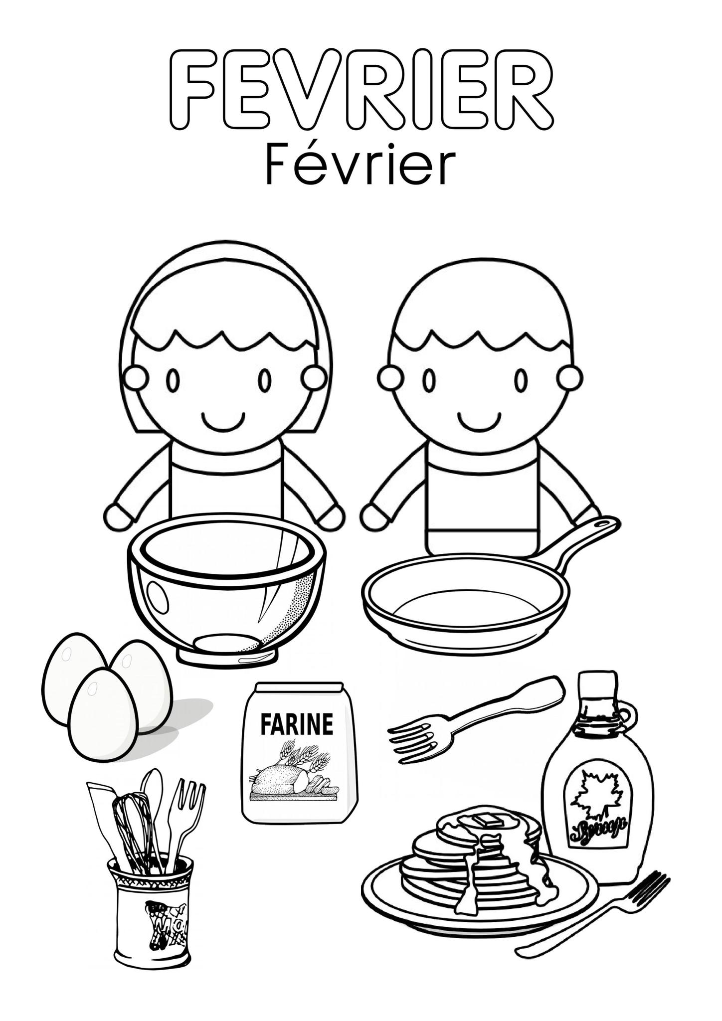 Coloriages Février - Assistante Maternelle Argenteuil - Orgemont intérieur Coloriage Février