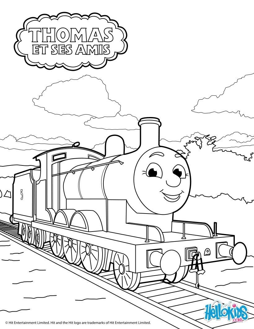 Coloriages James - Fr.hellokids à Coloriage Thomas Le Petit Train