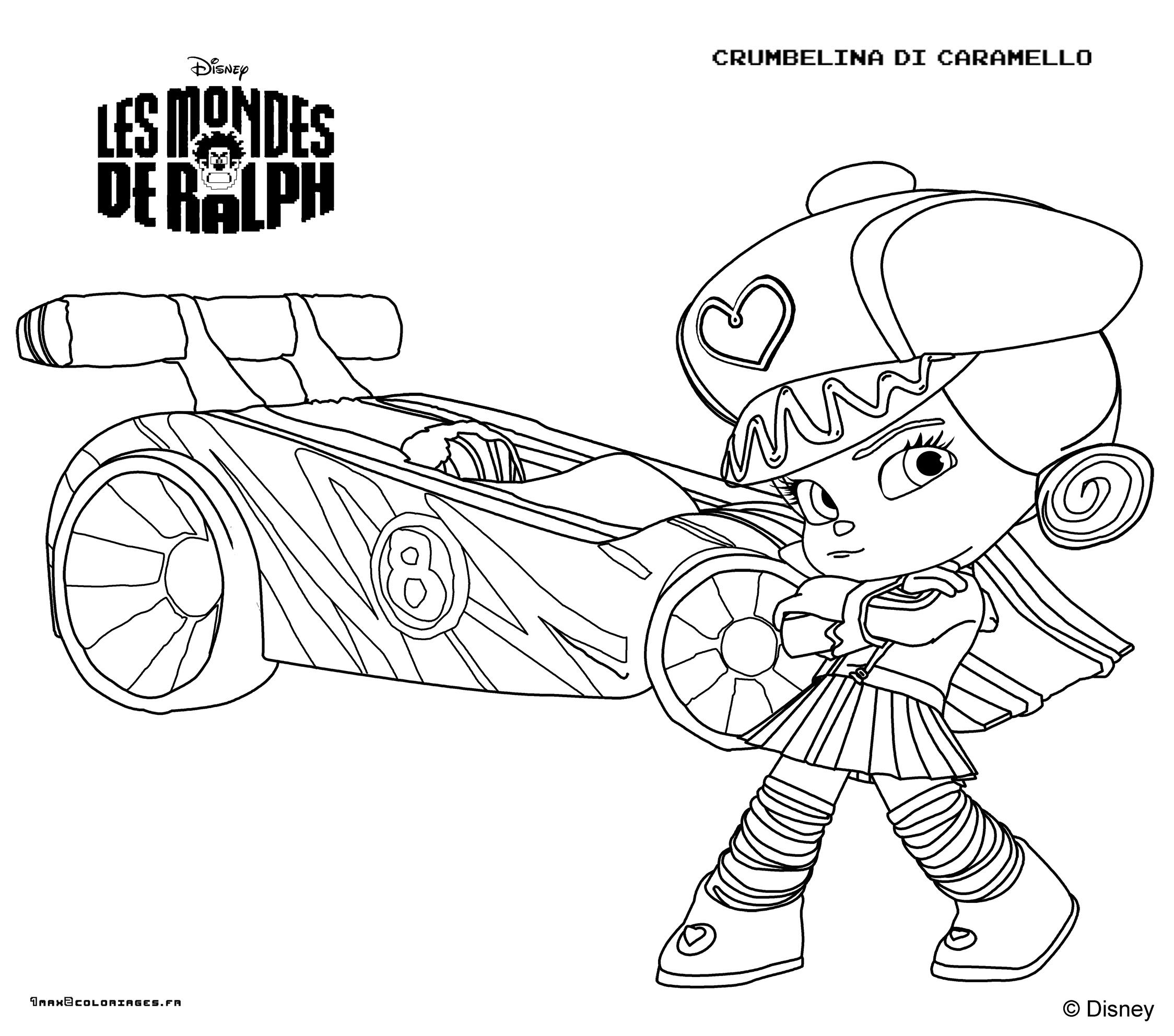 Coloriages Les Mondes De Ralph A Imprimer - Coloring Page pour Coloriage Ralph La Casse