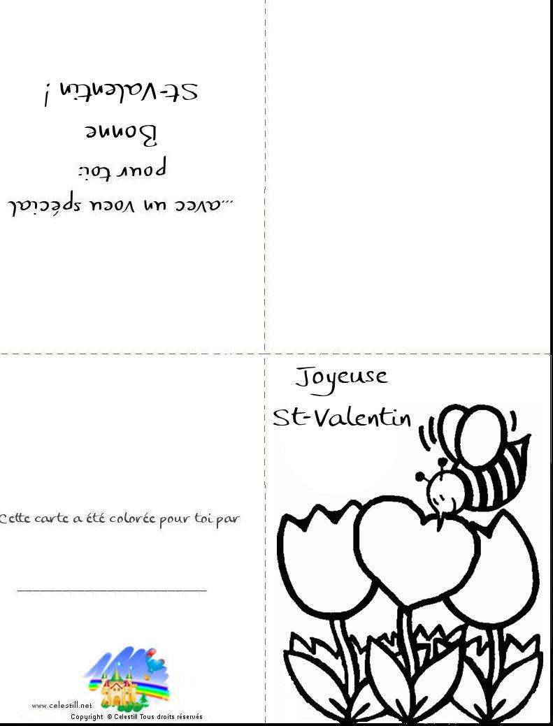 Coloriages St-Valentin - Carte À Imprimer Et À Colorier serapportantà Coloriage De St Valentin