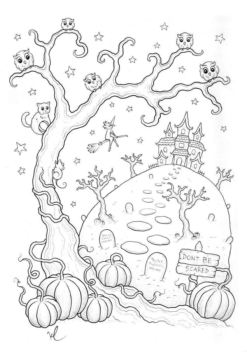 Coloring: Coloriage Halloween Imprimer Qui Fait Peur Par intérieur Coloriage Igloo