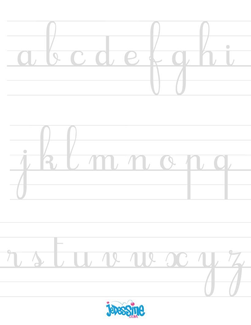 Comment Dessiner Ecrire Les Lettres Cursives En Minuscules serapportantà T Majuscule En Cursive
