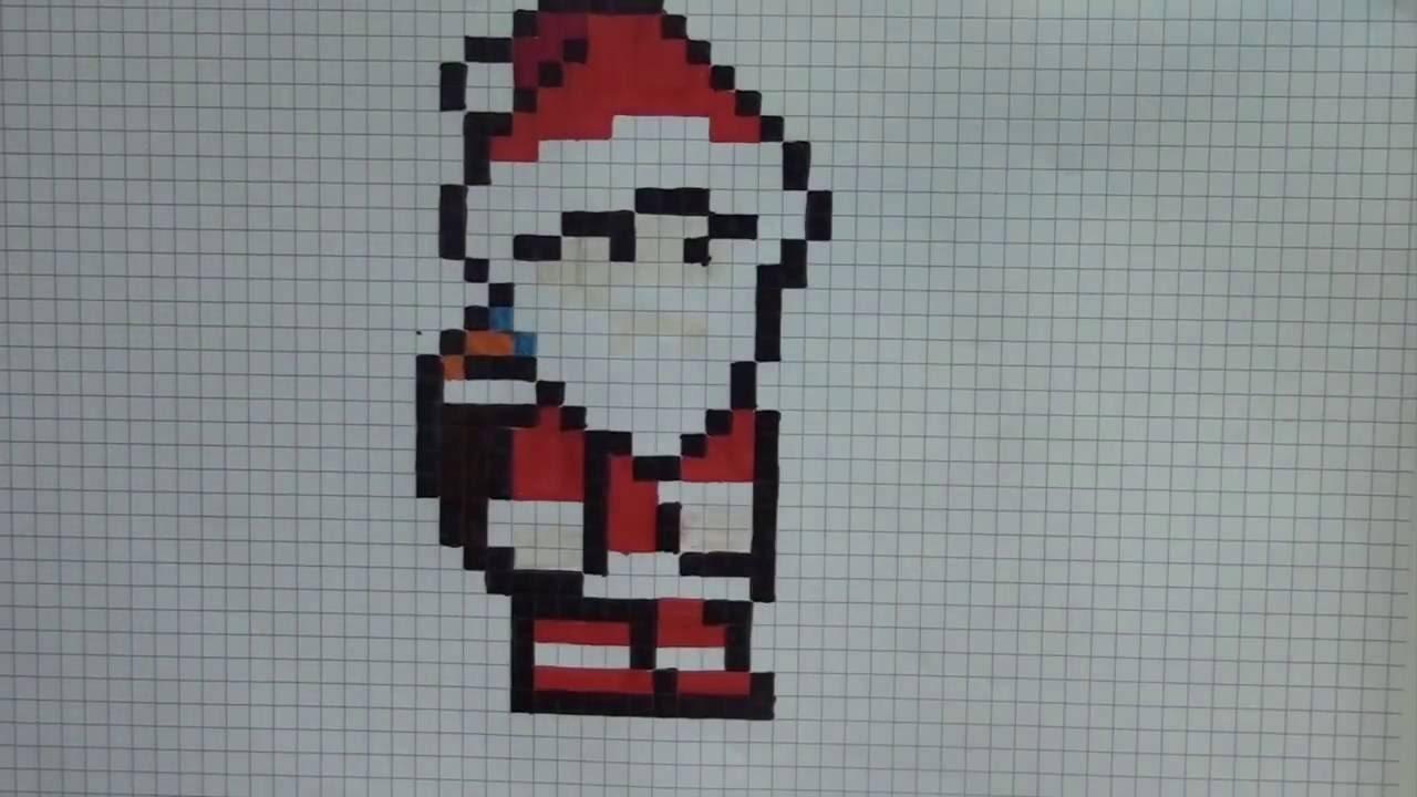 Comment Dessiner Le Père Noël Pixel Art avec Pixel Art Pere Noel