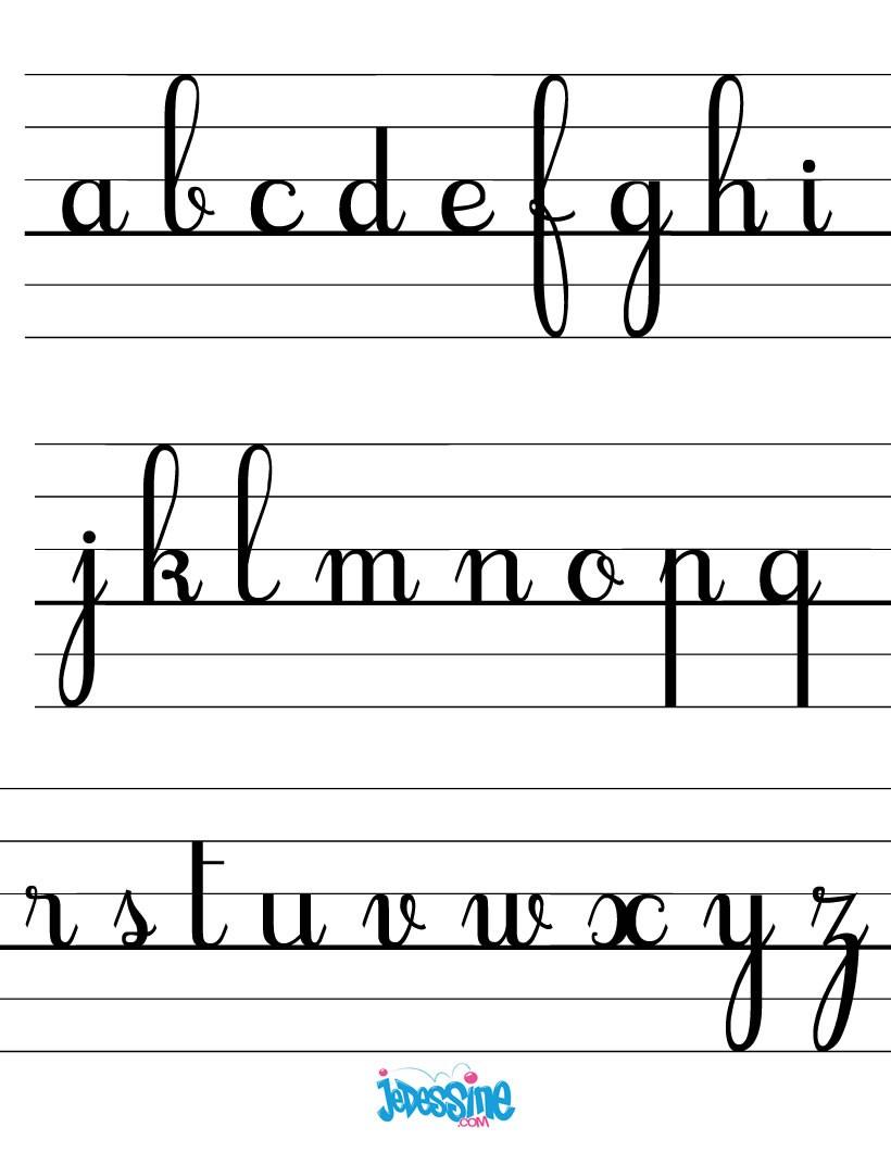 Comment Dessiner Les Lettres Cursives Minuscules - Fr avec T Majuscule En Cursive