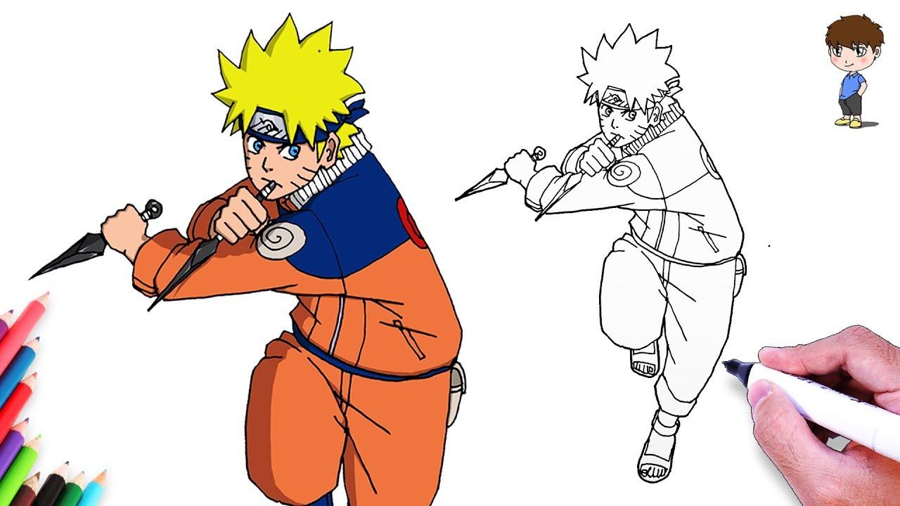 Comment Dessiner Naruto Facilement - Dessin De Naruto Uzumaki Facile A Faire concernant Coloriage De Naruto Shippuden A Imprimer