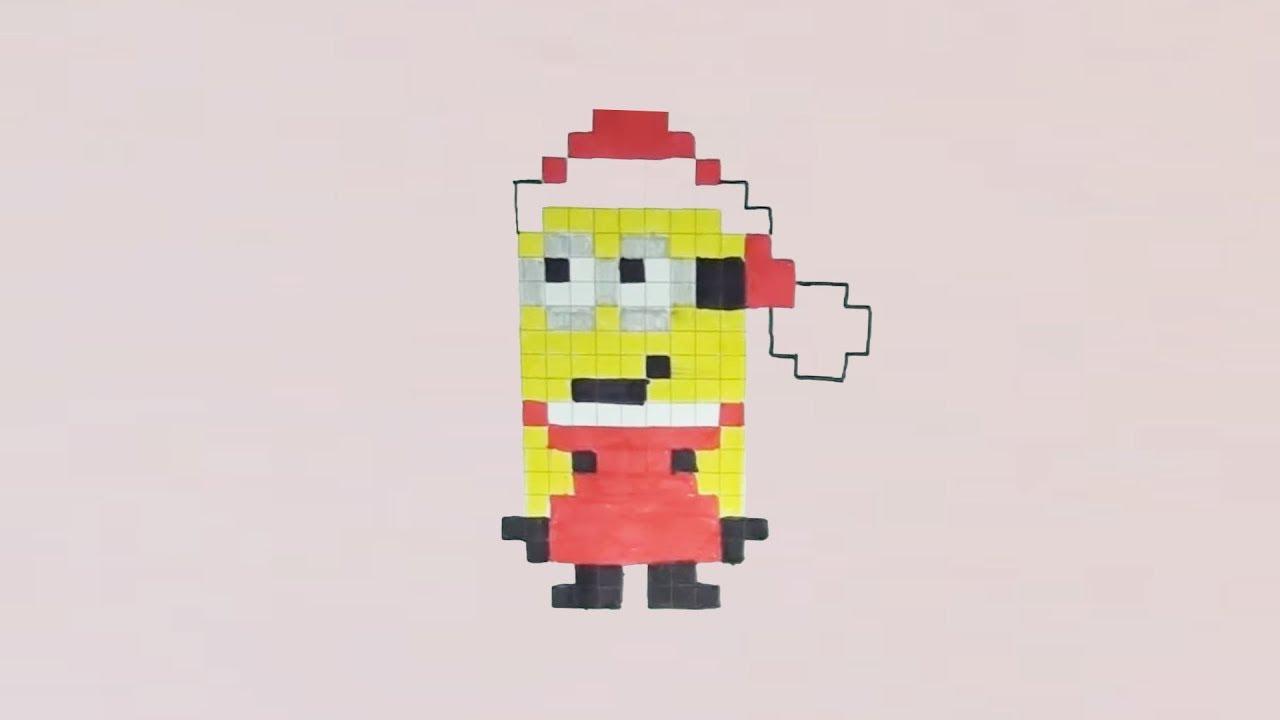Comment Dessiner Un Minion Père Noël Pixel Art avec Pixel Art Pere Noel