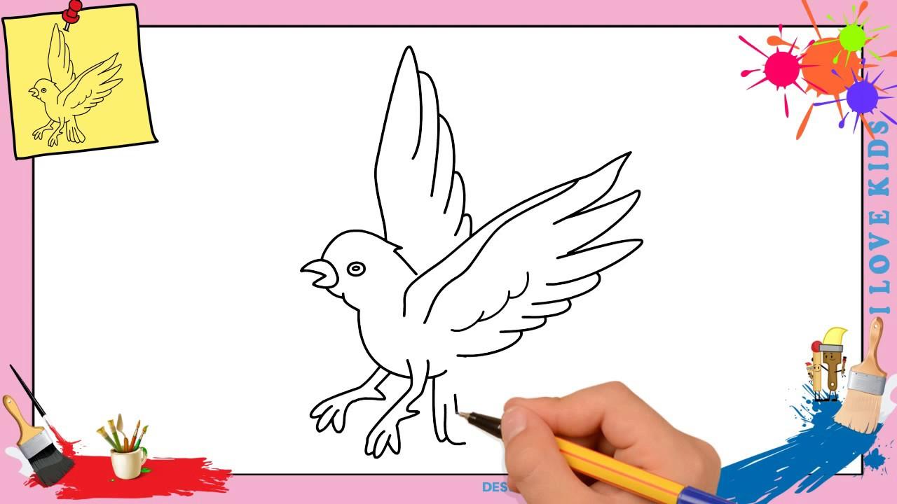 Comment Dessiner Un Oiseau Qui Vole Facilement Etape Par Etape destiné Vol Petit Oiseau