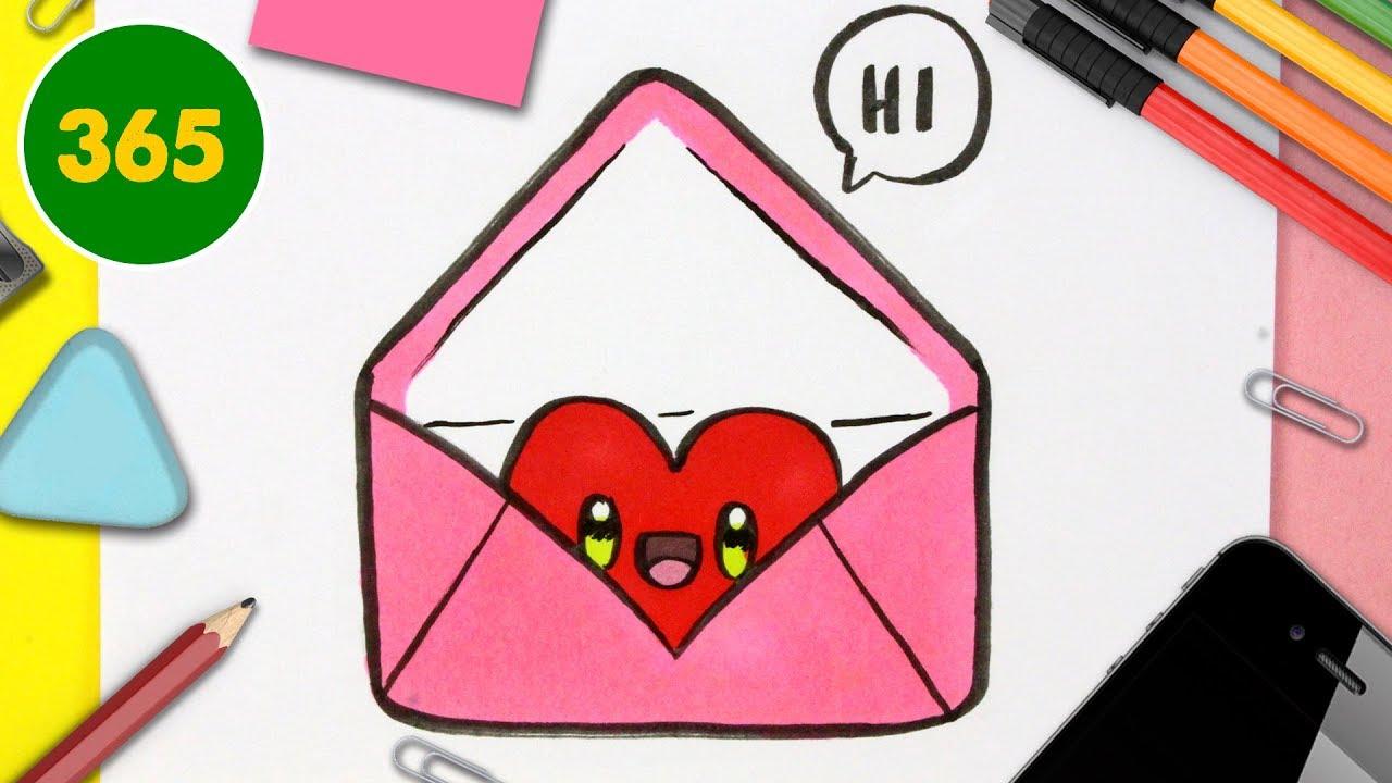 Comment Dessiner Une Lettre D'amour Kawaii - Dessins Kawaii Faciles -  Dessins Pour La Saint-Valentin destiné Dessin Pour La Saint Valentin