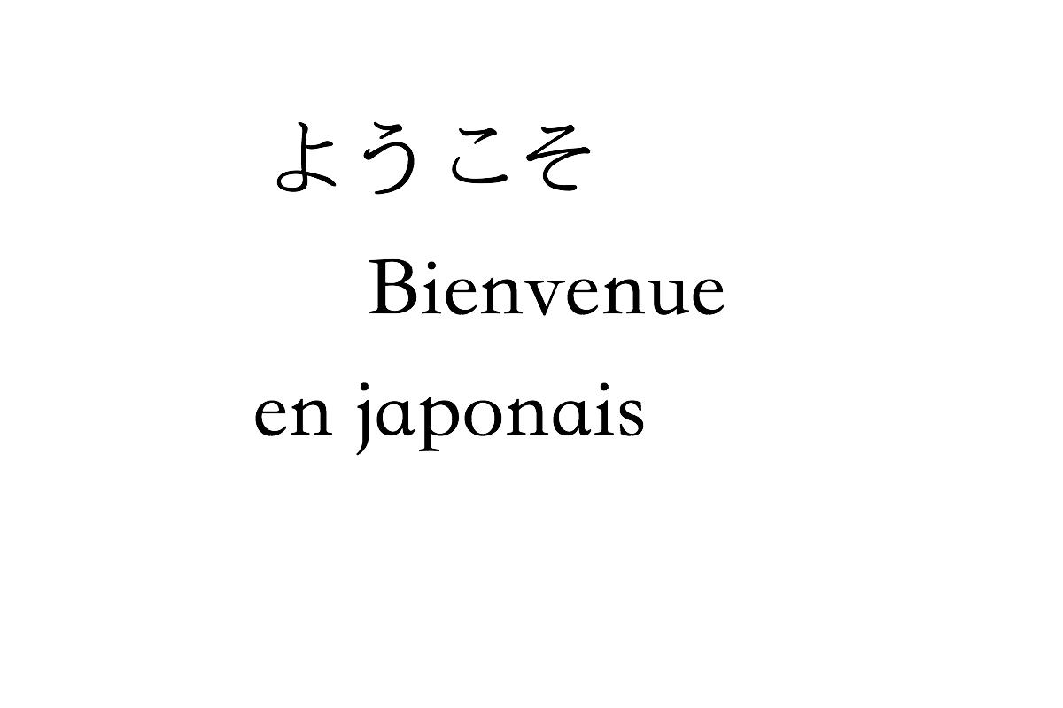 Comment Dire Bienvenue En Japonais, Yokoso Et Autres | Un dedans Bonjour Japonnais