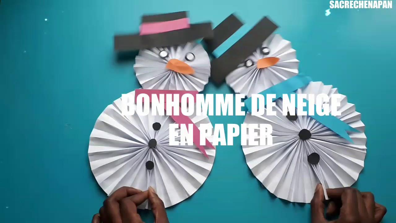 Comment Faire Un Bonhomme De Neige Mobile En Papier (Facile ) à Origami Bonhomme De Neige