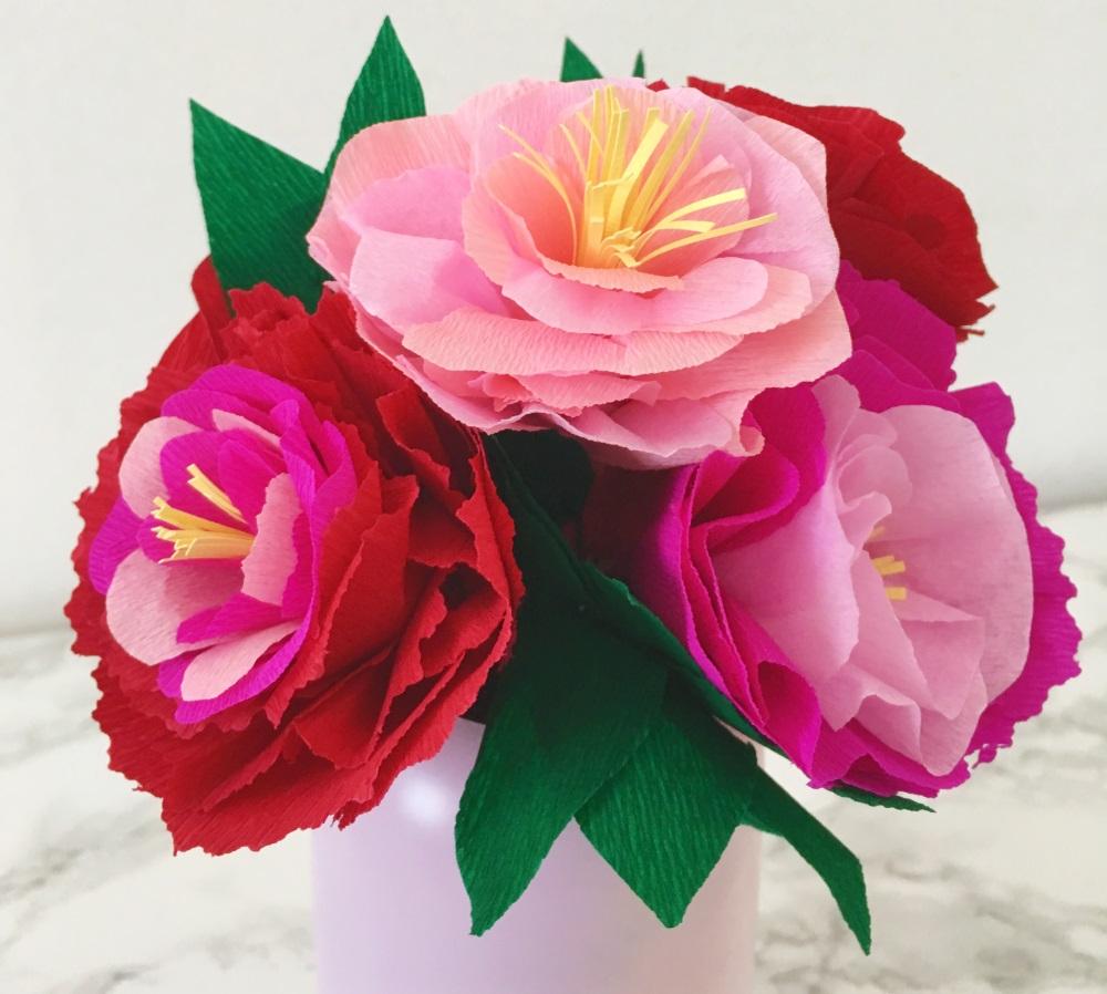 Comment Faire Un Bouquet De Fleurs En Papier | Mon P'tit Trésor tout Realisation Papier Crepon