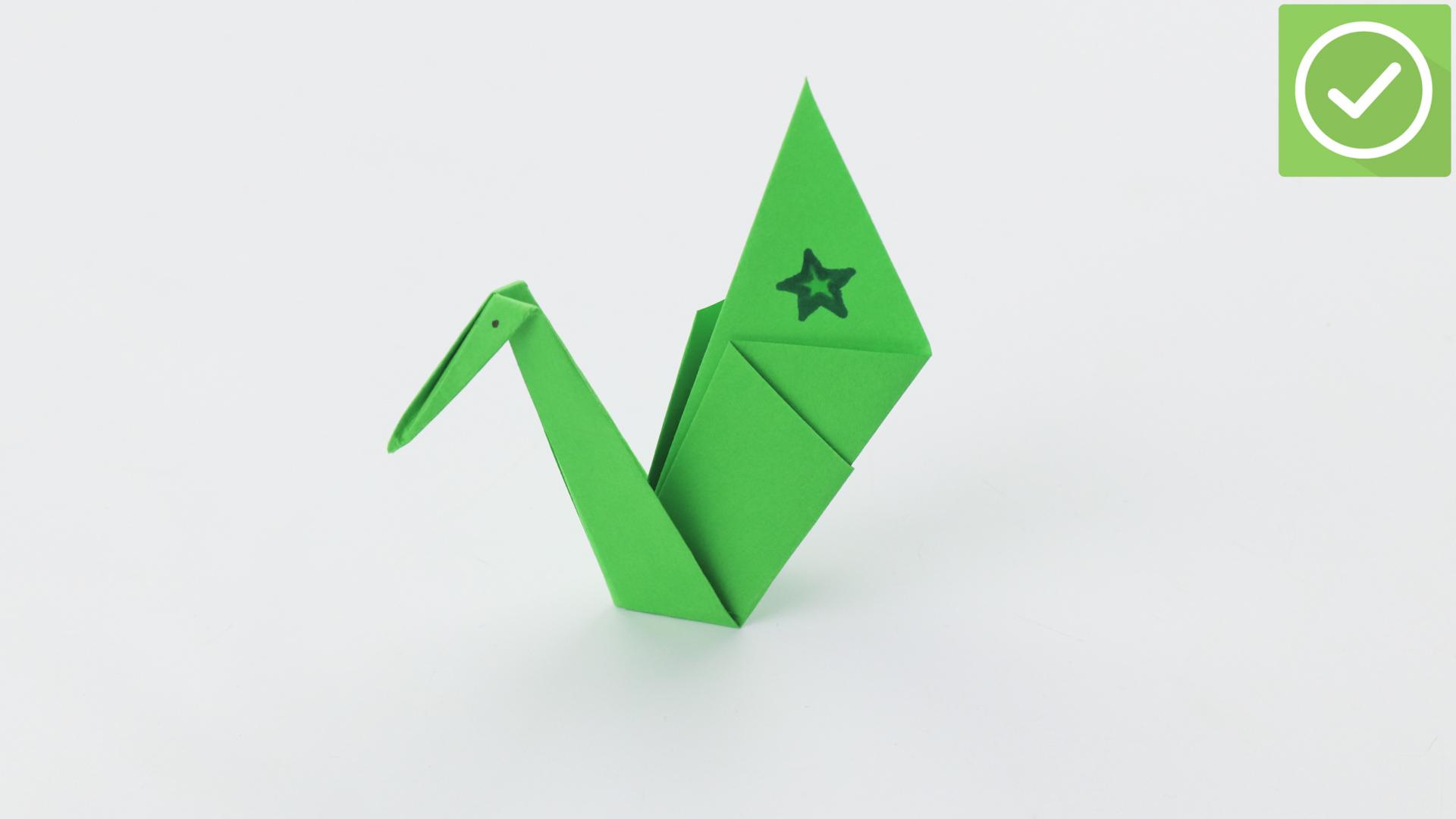 Comment Faire Un Cygne En Origami: 13 Étapes à Origami Canard