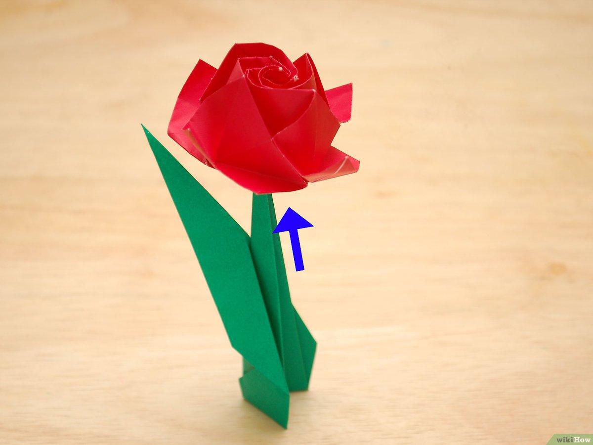 Comment Faire Une Rose En Papier (Avec Images) - Wikihow intérieur Origami Rose Facile A Faire