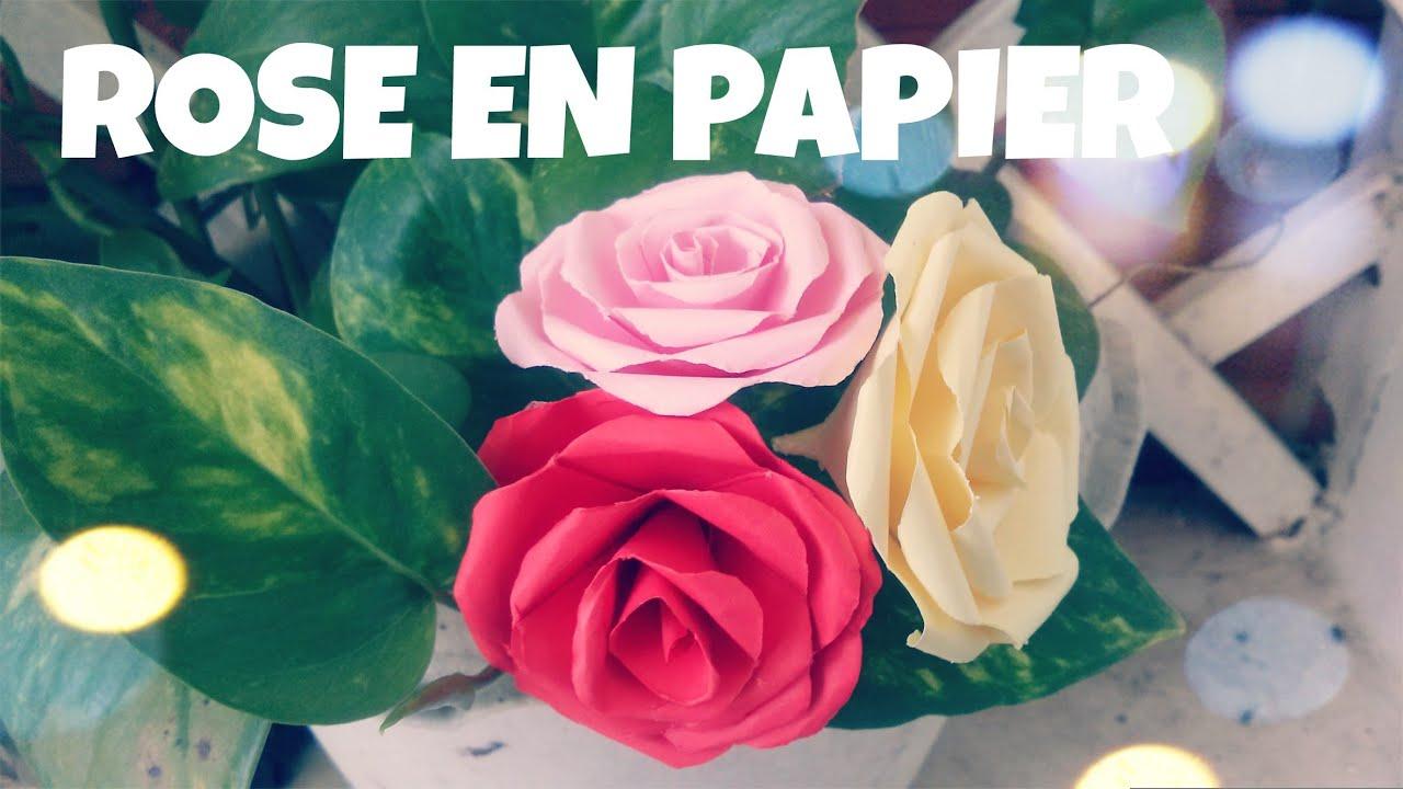Comment Faire Une Rose En Papier (Tres Facile) destiné Origami Rose Facile A Faire