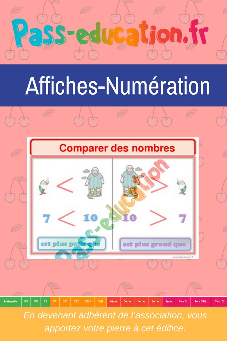 Comparer Des Nombres- Ce1 - Ce2 - Cm1 - Cm2 - Affiche Pour dedans Nombres Pairs Et Impairs Ce2