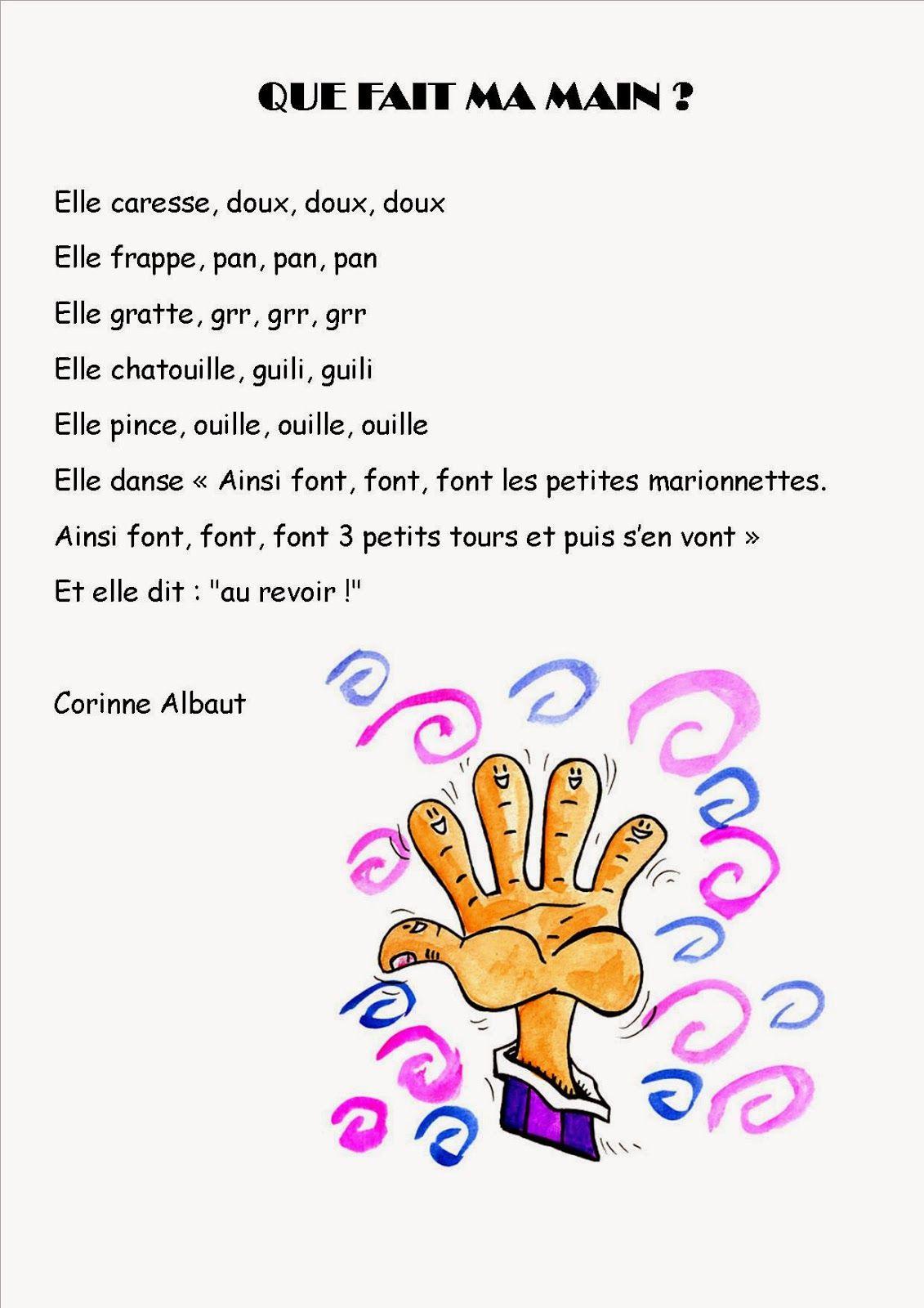 Comptine #10 Que Fait Ma Main ? | Comptines, Comptine Crèche à Les Petites Marionnettes Chanson