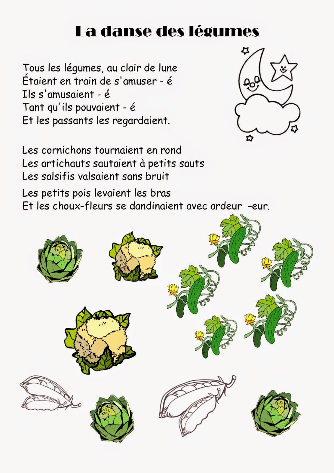 Comptine #30 La Danse Des Légumes | Comptines, Comptine dedans Chanson Sur Les Fruits Et Légumes