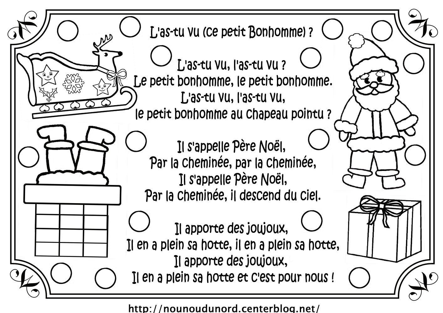 Comptine De Noël L'as-Tu Vu concernant L As Tu Vu Paroles