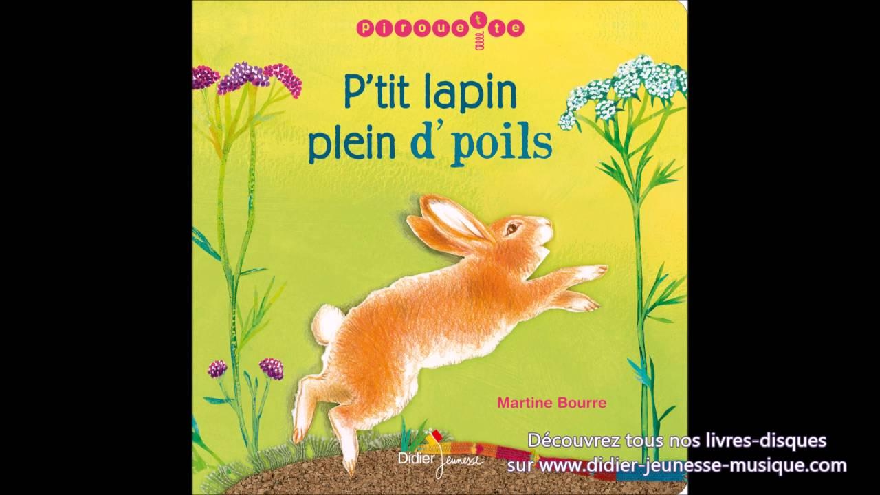 Comptine - P'tit Lapin Plein D'poils à Chanson Enfant Lapin