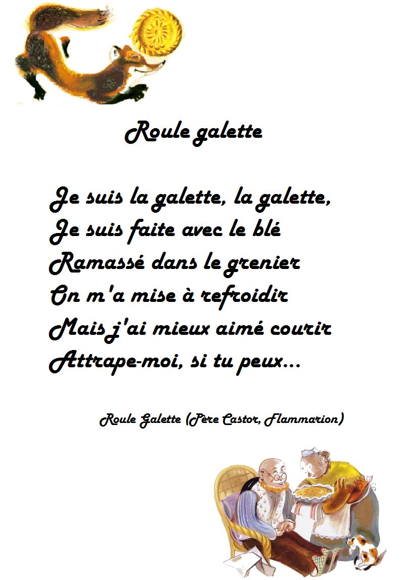 """Comptine Roule Galette - Paroles De La Comptine """"roule concernant Histoire Roule Galette"""