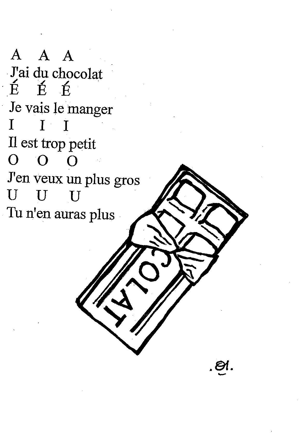 Comptine Sur Le Chocolat A A A - Dis Bonjour Au Soleil intérieur Comptine Bonjour Madame Lundi