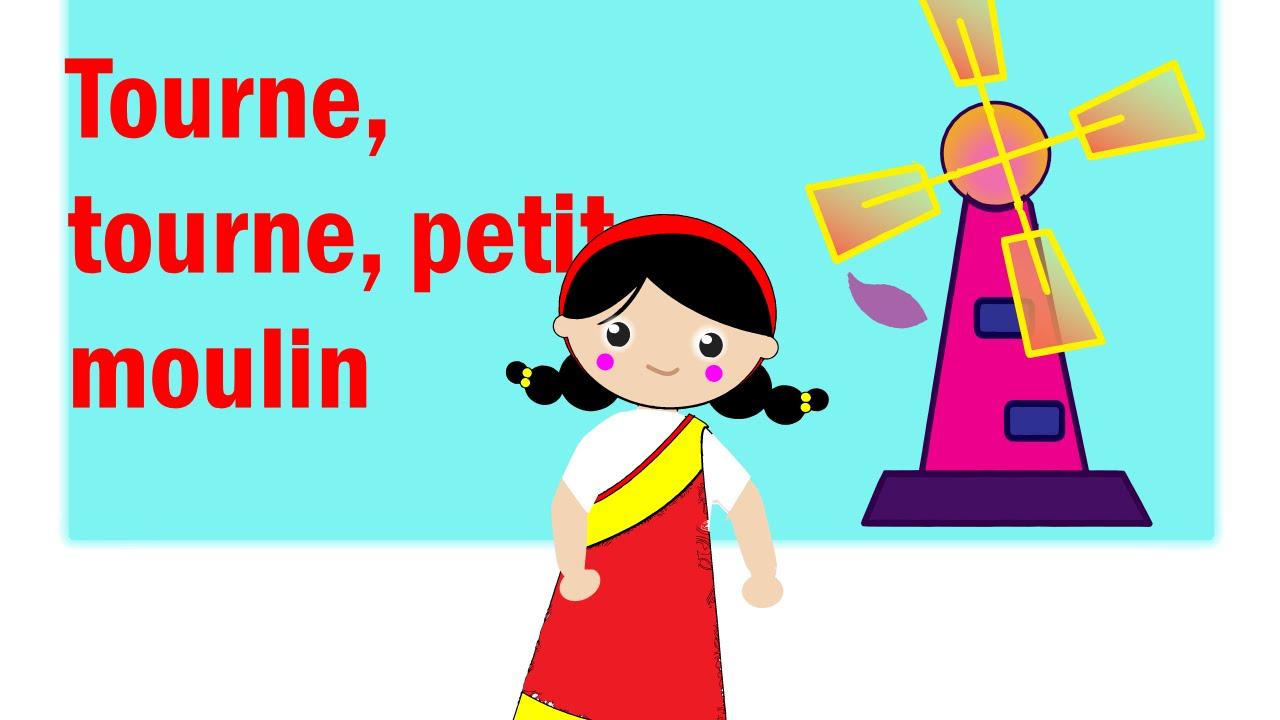 """Comptine """"tourne Tourne Petit Moulin"""" encequiconcerne Petit Moulin Chanson"""