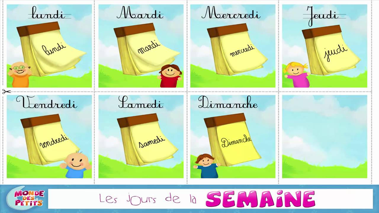 Comptines: Bonjour, Lundi ! destiné Comptine Bonjour Madame Lundi