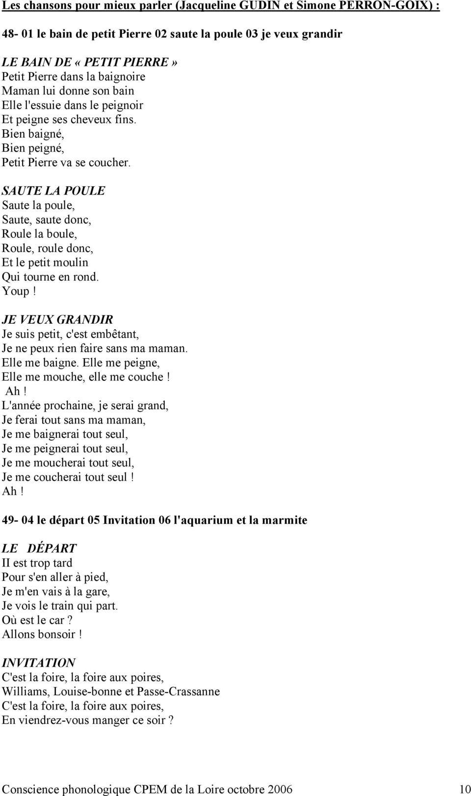 Comptines, Chansons Et Conscience Phonologique - Pdf Free encequiconcerne Petit Moulin Chanson