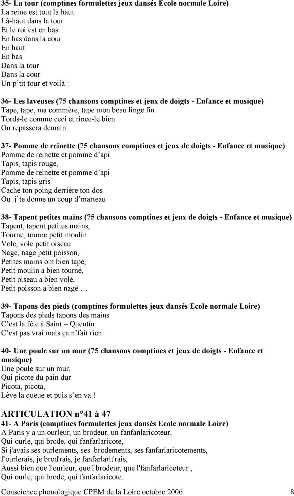 Comptines, Chansons Et Conscience Phonologique - Pdf Free serapportantà Petit Moulin Chanson
