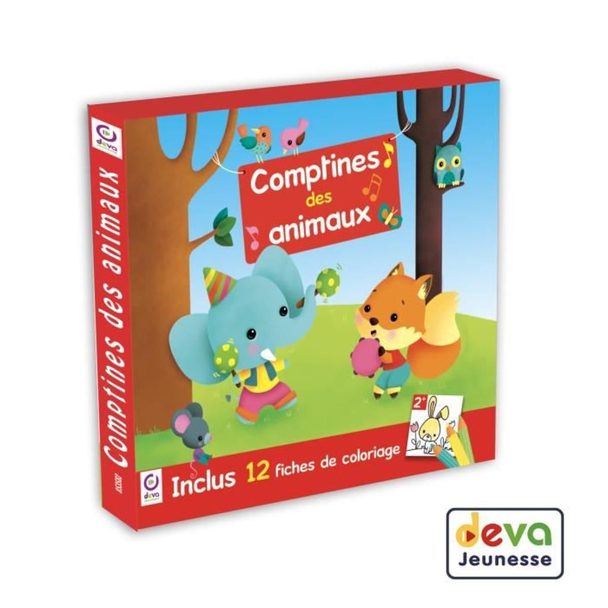 Comptines Des Animaux - Inclus Cahier De Coloriage Enfant avec Chanson Pour Les Animaux