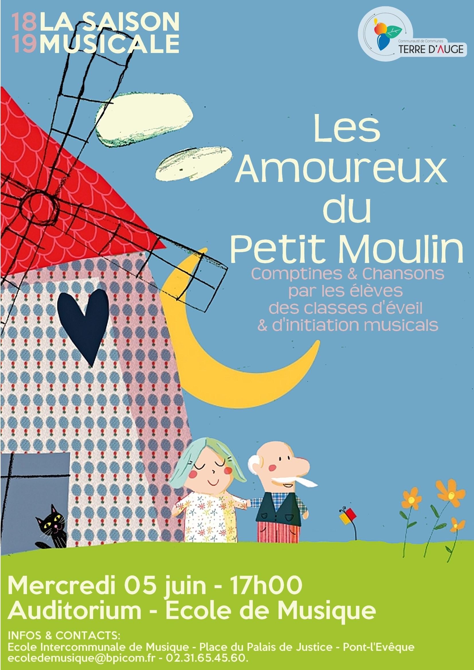 Comptines Et Chansons Par Les Élèves Des Classes D'éveil destiné Petit Moulin Chanson