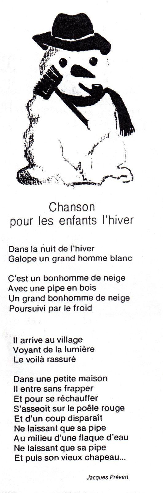 Comptines, Poésies Maternelle - Point De Croix : Bavoirs destiné Dans La Nuit De L Hiver Chanson