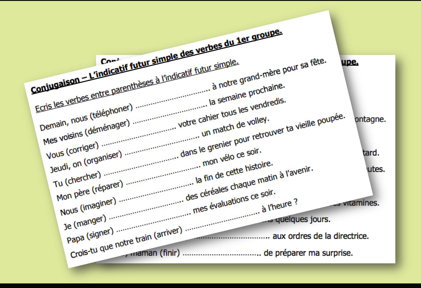 Conjuguer Au Futur Simple - Exercices D'entraînement - L encequiconcerne Exercice Cm2 Gratuit