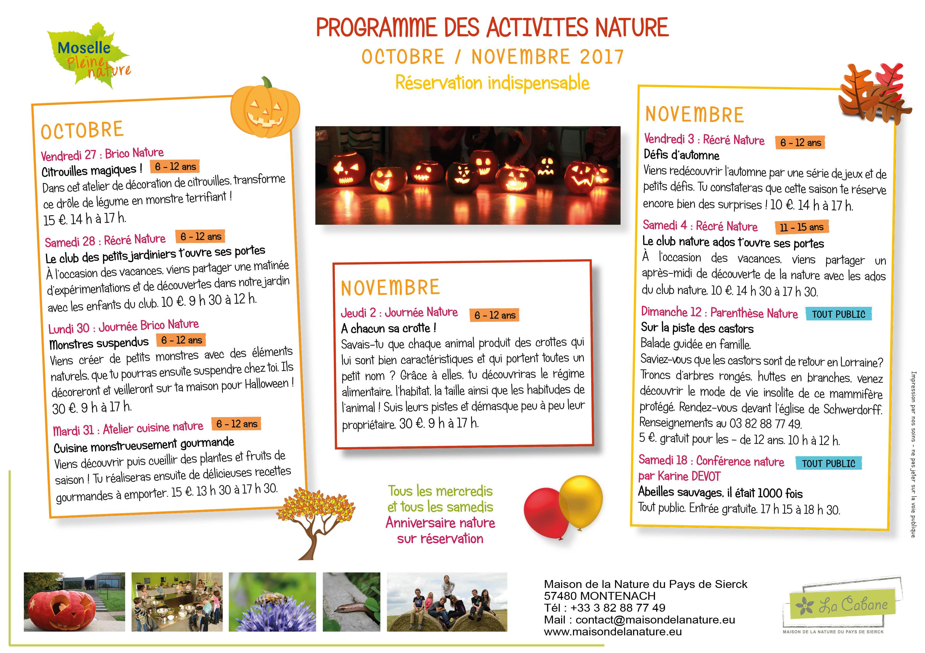 Consultez Notre Programme D'automne ! | La Cabane : Maison concernant Caractéristiques De L Automne