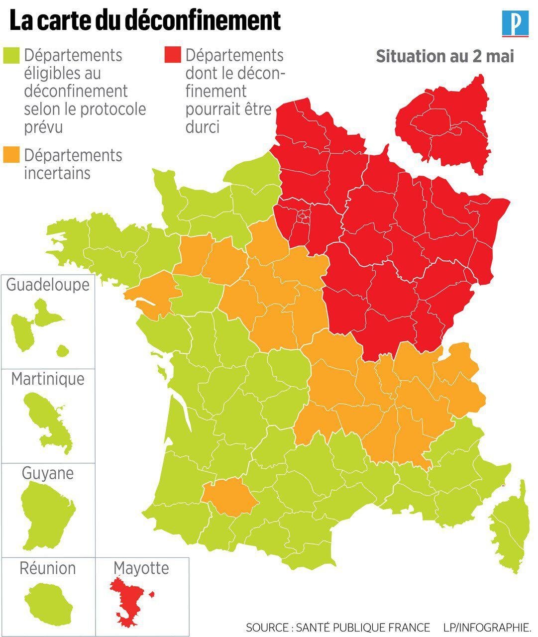 Coronavirus : 166 Nouveaux Décès, Une Nouvelle Carte Pour Le destiné Nouvelle Carte Des Régions De France