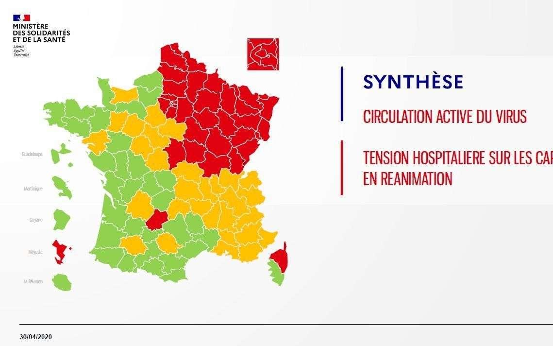Coronavirus En France : Voici La Première Carte Des serapportantà Imprimer Une Carte De France