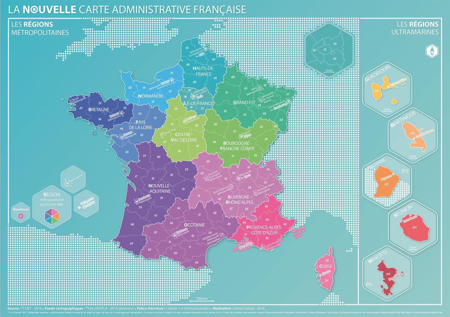 Coup De Jeune Sur La Carte Des Régions - Décryptagéo, L encequiconcerne Nouvelle Carte Des Régions De France