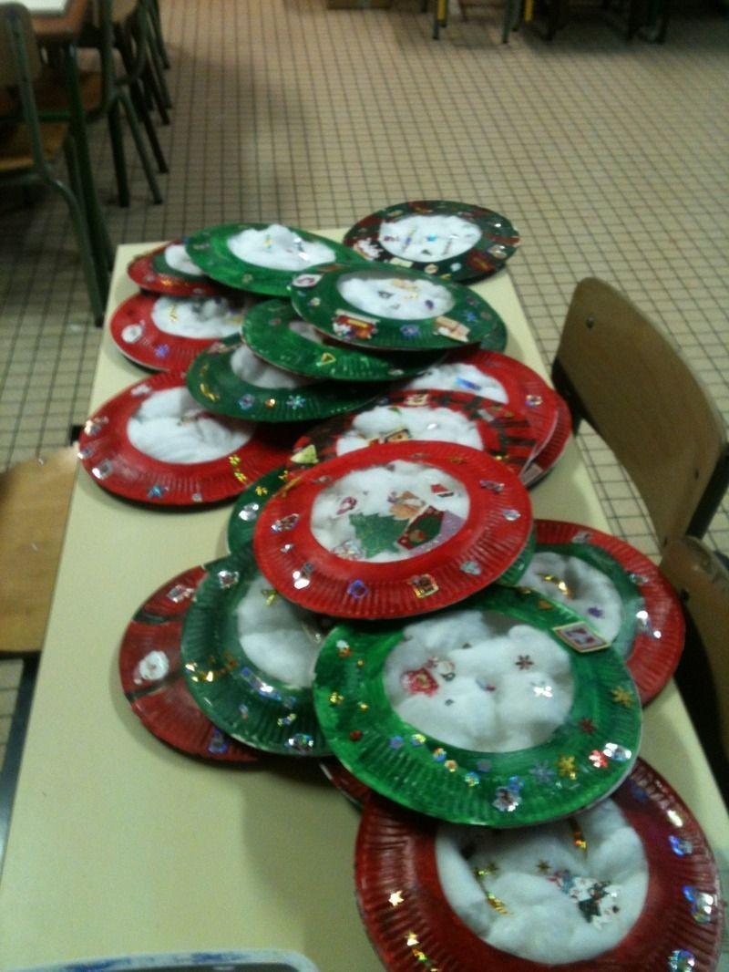Couronnes De Noël Faites Dans La Classe De Cp De Mon Fils avec Bricolage De Noel Pour Maternelle