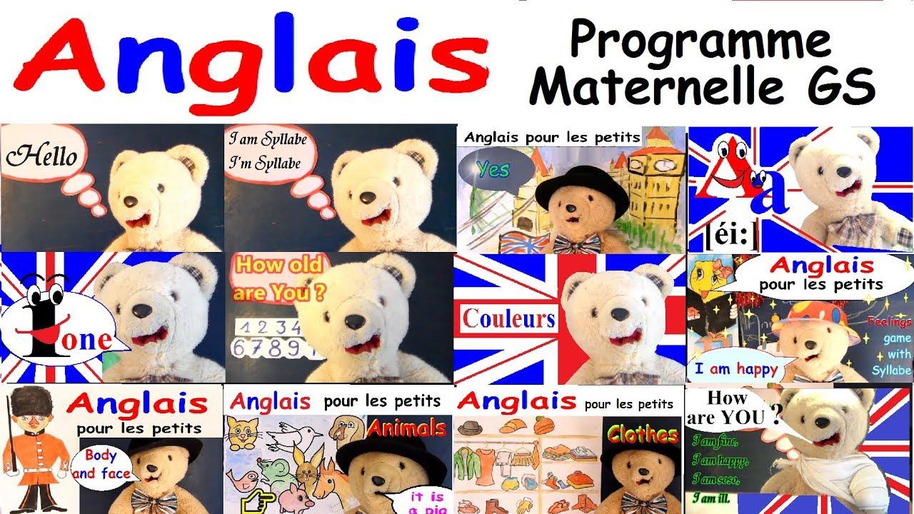 Cours D'anglais Pour Les Maternelles Gs : Programme Grande Section intérieur Jeux En Anglais Gratuit