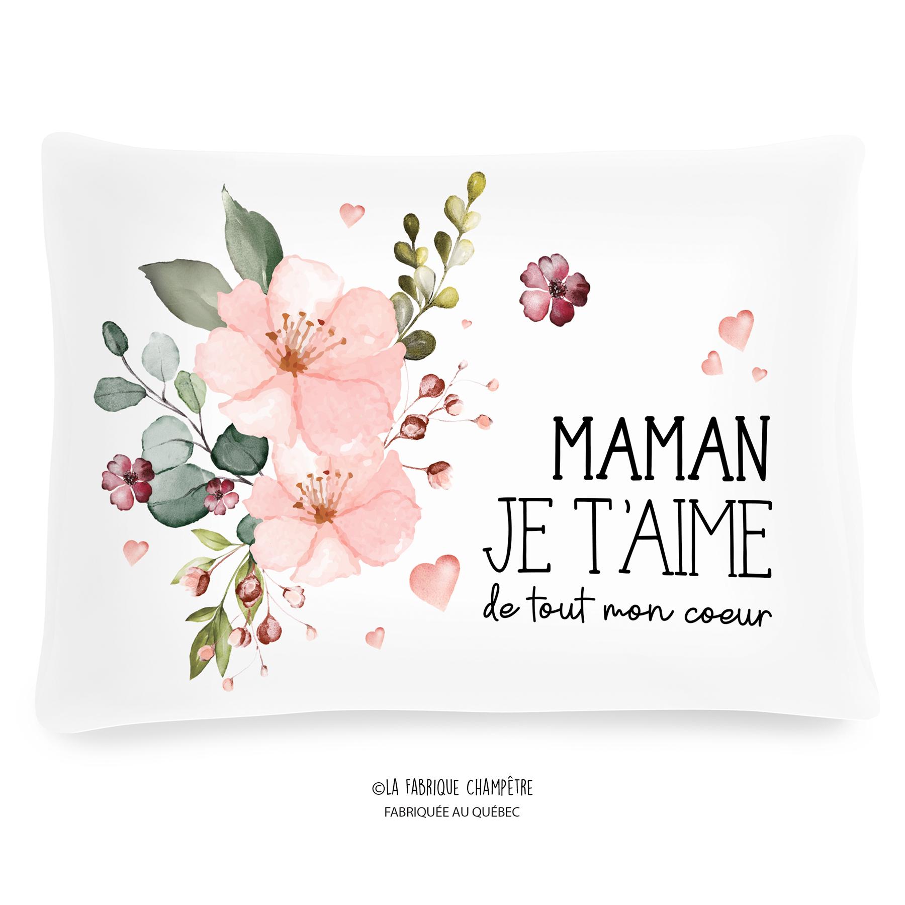 Coussin À Texte - Maman Je T'aime avec Texte Maman Je T Aime